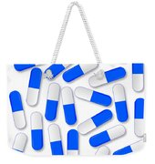 Blue And White Capsules Weekender Tote Bag