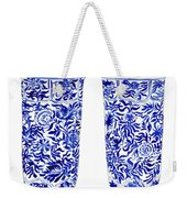 Blue And White Chinoiserie Vases Weekender Tote Bag