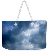 Blue And White Cloud Formations Weekender Tote Bag