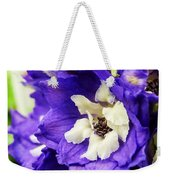 Blue And White Delphiniums Weekender Tote Bag