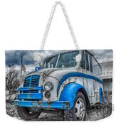 Blue And White Divco Weekender Tote Bag
