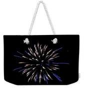 Blue And White Fireworks Weekender Tote Bag