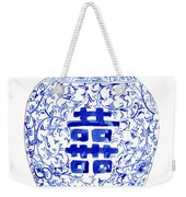 Blue And White Ginger Jar Chinoiserie 8 Weekender Tote Bag