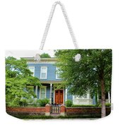 Blue And White House Weekender Tote Bag