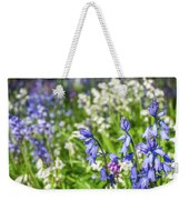Blue And White Hyacinth Flowers Weekender Tote Bag