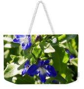 Blue And White Lobelia Weekender Tote Bag