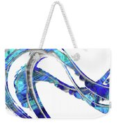 Blue And White Painting - Wave 2 - Sharon Cummings Weekender Tote Bag