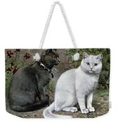 Blue And White Short Haired Cats Weekender Tote Bag