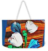 Blue And White Tulips Weekender Tote Bag
