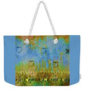 Blue And Yellow Abstract Weekender Tote Bag