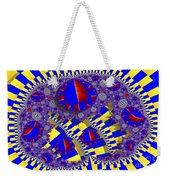 Blue And Yellow Bits 2 Weekender Tote Bag