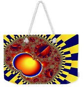 Blue And Yellow Bits 3 Weekender Tote Bag