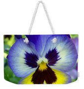 Blue And Yellow Pansy Weekender Tote Bag