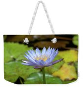Blue And Yellow Water Lily Weekender Tote Bag