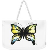 Blue And Yellow Watercolor Butterfly Weekender Tote Bag
