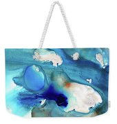 Blue Art - The Meaning Of Life - Sharon Cummings Weekender Tote Bag