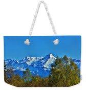 Blue Autumn Sky Weekender Tote Bag