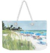 Blue Beach Umbrellas, Crescent Beach, Siesta Key - Wide Weekender Tote Bag