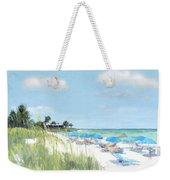 Blue Beach Umbrellas, Point Of Rocks, Crescent Beach, Siesta Key Weekender Tote Bag