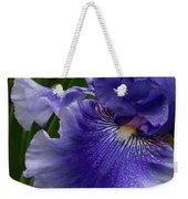 Blue Bearded Iris Weekender Tote Bag