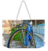 Blue Bike Weekender Tote Bag