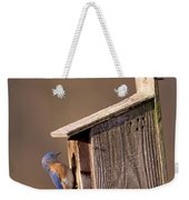 Blue Bird Couple Weekender Tote Bag