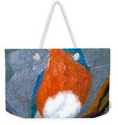 Blue Bird On Slate Weekender Tote Bag
