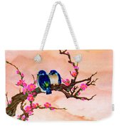 Blue Birds And Plum Blossoms #48 Weekender Tote Bag