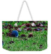 Blue Birds In Winter Weekender Tote Bag