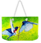 Blue Birds Weekender Tote Bag