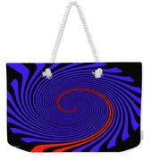 Blue Black And Red Twirl Abstract Weekender Tote Bag