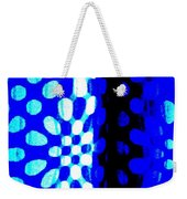 Blue Black Pattern Abstract Weekender Tote Bag