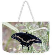 Blue Black Swallowtail Weekender Tote Bag