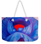 Blue Bloom Weekender Tote Bag