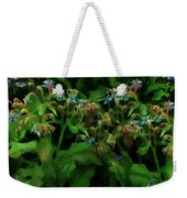 Blue Blossoms By Moonlight Weekender Tote Bag