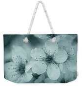 Blue Blossoms Weekender Tote Bag by Patricia Strand