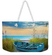 Blue Boat At Dawn Watercolors Painting Weekender Tote Bag