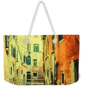 Blue Boat In Venice  Weekender Tote Bag