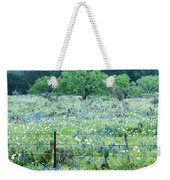 Blue Bonnets,poppies And Willow Tree 2 Weekender Tote Bag