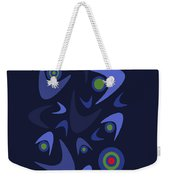 Blue Boomerangs Weekender Tote Bag