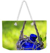 Small Blue Bottle Garden Art Weekender Tote Bag