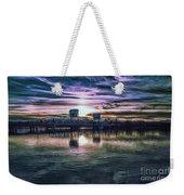 Blue Bridge At Sunset Weekender Tote Bag