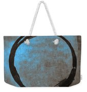 Blue Brown Enso Weekender Tote Bag