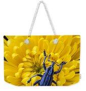 Blue Bug On Yellow Mum Weekender Tote Bag