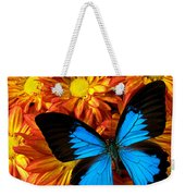 Blue Butterfly On Mums Weekender Tote Bag