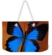 Blue Butterfly On Violin Weekender Tote Bag