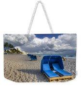 Blue Cabana Weekender Tote Bag