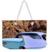 Blue Cadillac Weekender Tote Bag