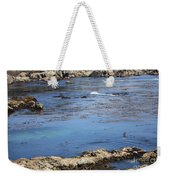 Blue California Bay Weekender Tote Bag