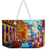 Blue Cars At The Resto Bar Weekender Tote Bag